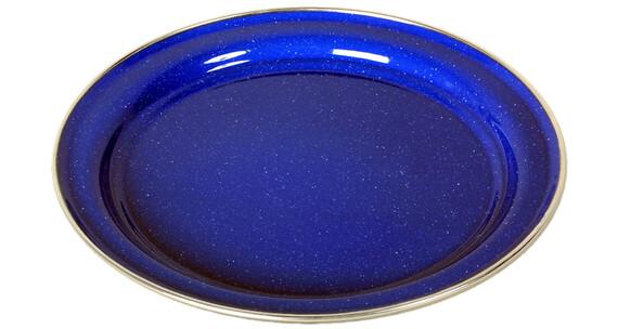 Relags Emaille Teller flach 26cm blau